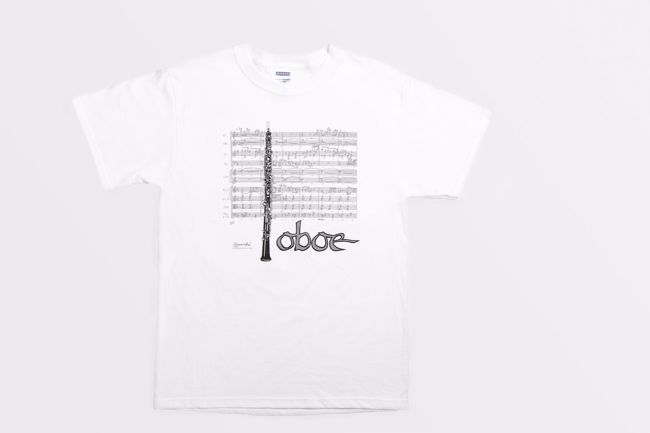T-Shirt - Musical Score With Oboe